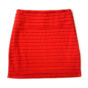 BCBGeneration • Knit Ruffle Mini Skirt